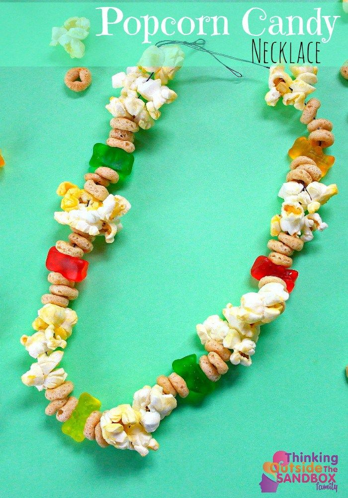 popcorn candy necklace edible crafts candy necklaces and popcorn