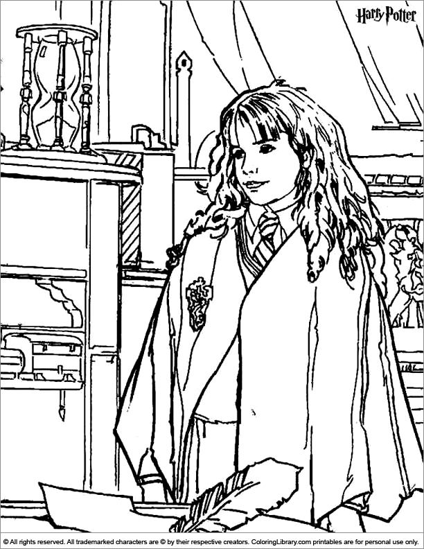 Harry Potter Coloring Page Pages To Print Rhpinterest: Harry Potter Fluffy Coloring Pages At Baymontmadison.com