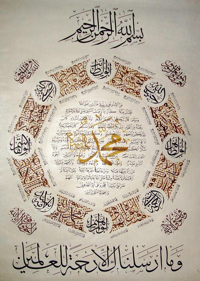 Yaa Muhummed saw Islami sanat, Desenler, Resim sanatı