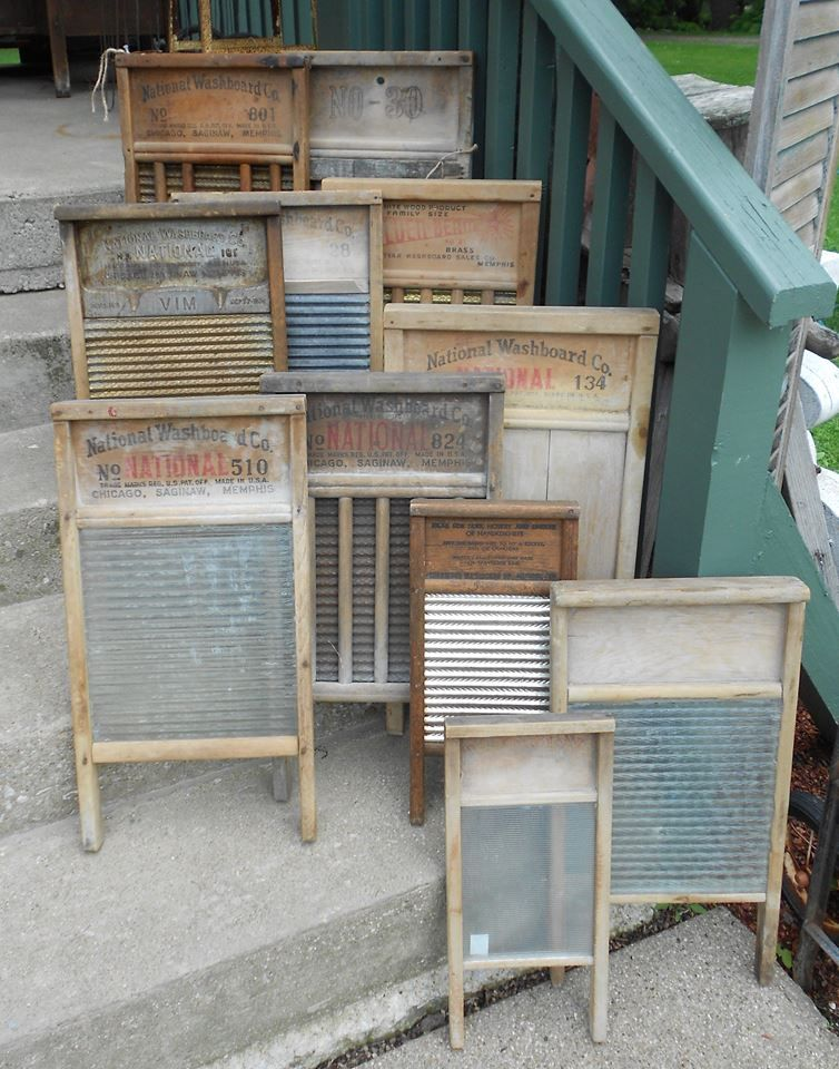 Just Enough Antiques Smithville Ohio Vintage Laundry Washboard Old Washboards
