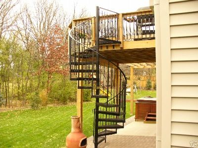 Best Deck With Spiral Staircase Google Search Staircase 640 x 480