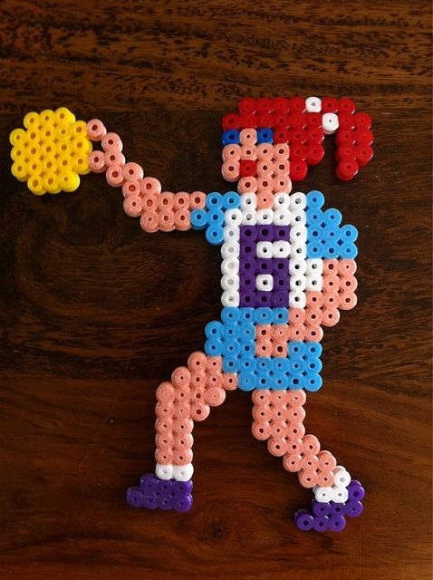 Hama Bead Basketball Player by Merrily Me, via Flickr