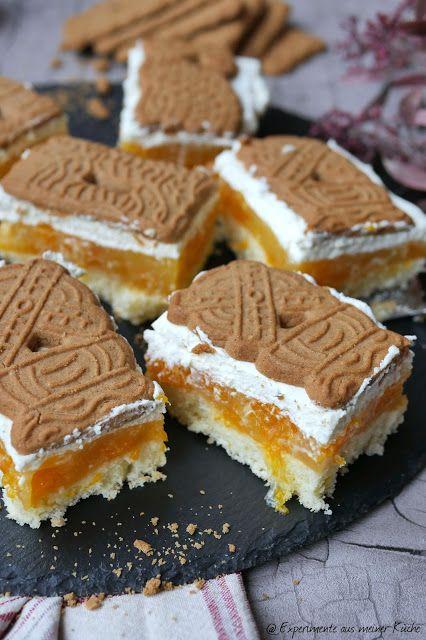 SpekulatiusMandarinenSchnitten SpekulatiusMandarinenSchnitten  Rezept  Backen  Weihnachten  Kuchen