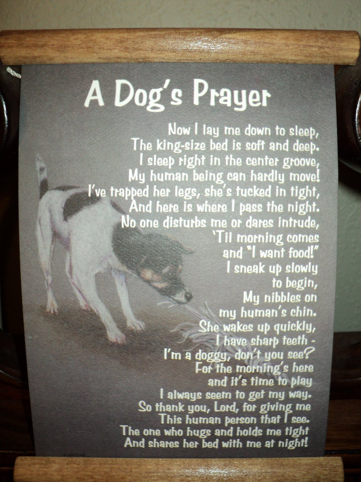 lord's prayer from a dog sleeping with his family Google