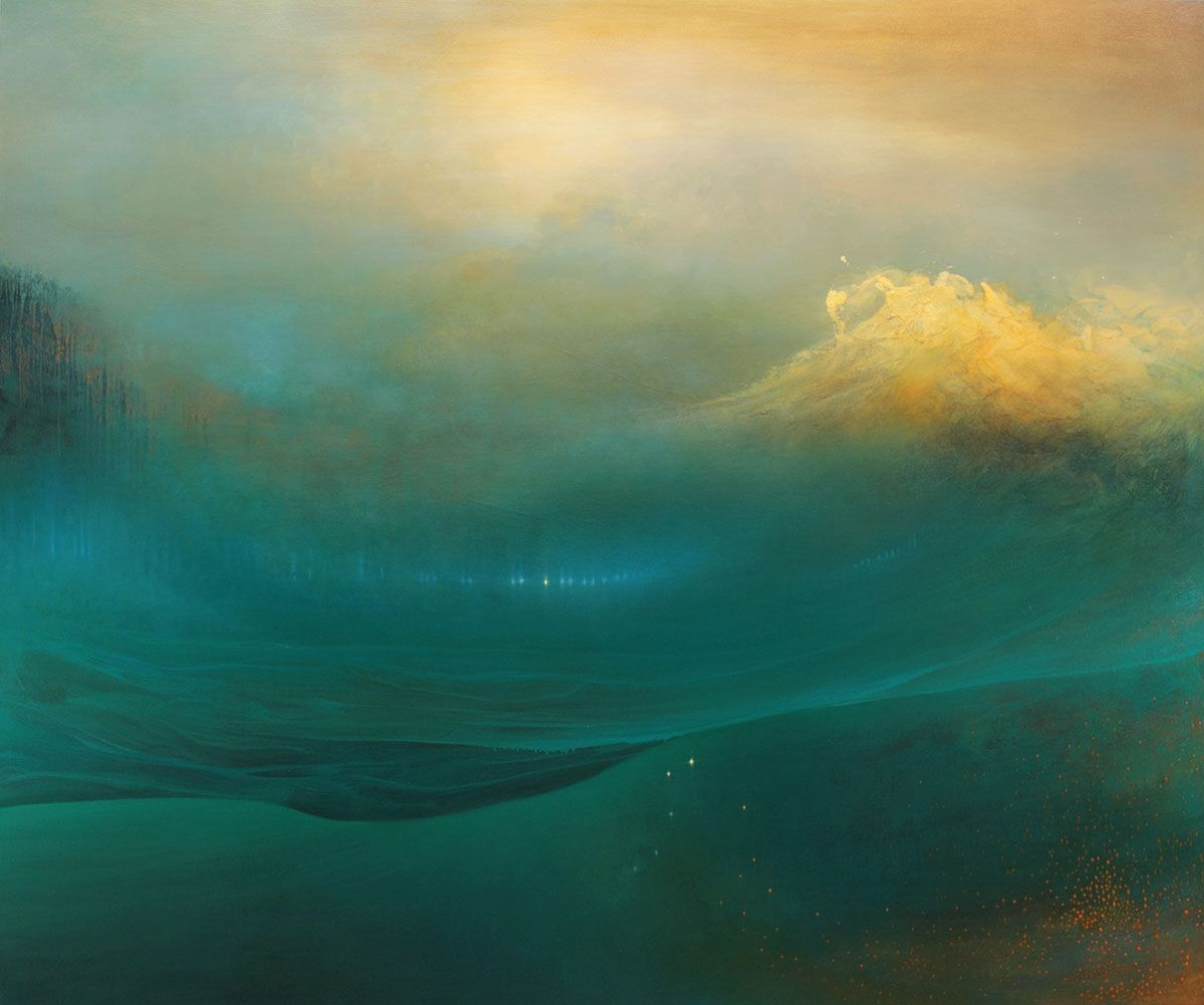 Internal Landscapes: Sweeping Abstract Oceans by Samantha Keely Smith waves water painting abstract