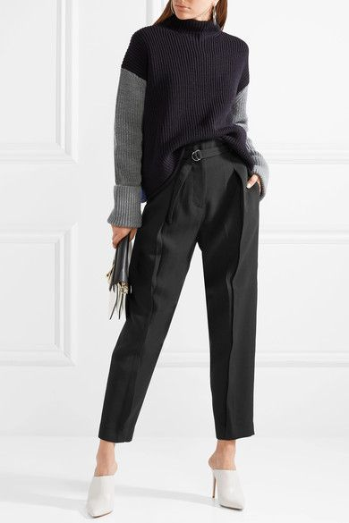 Belted Crepe Tapered Pants - Black 3.1 Phillip Lim 1lnme1sVPI