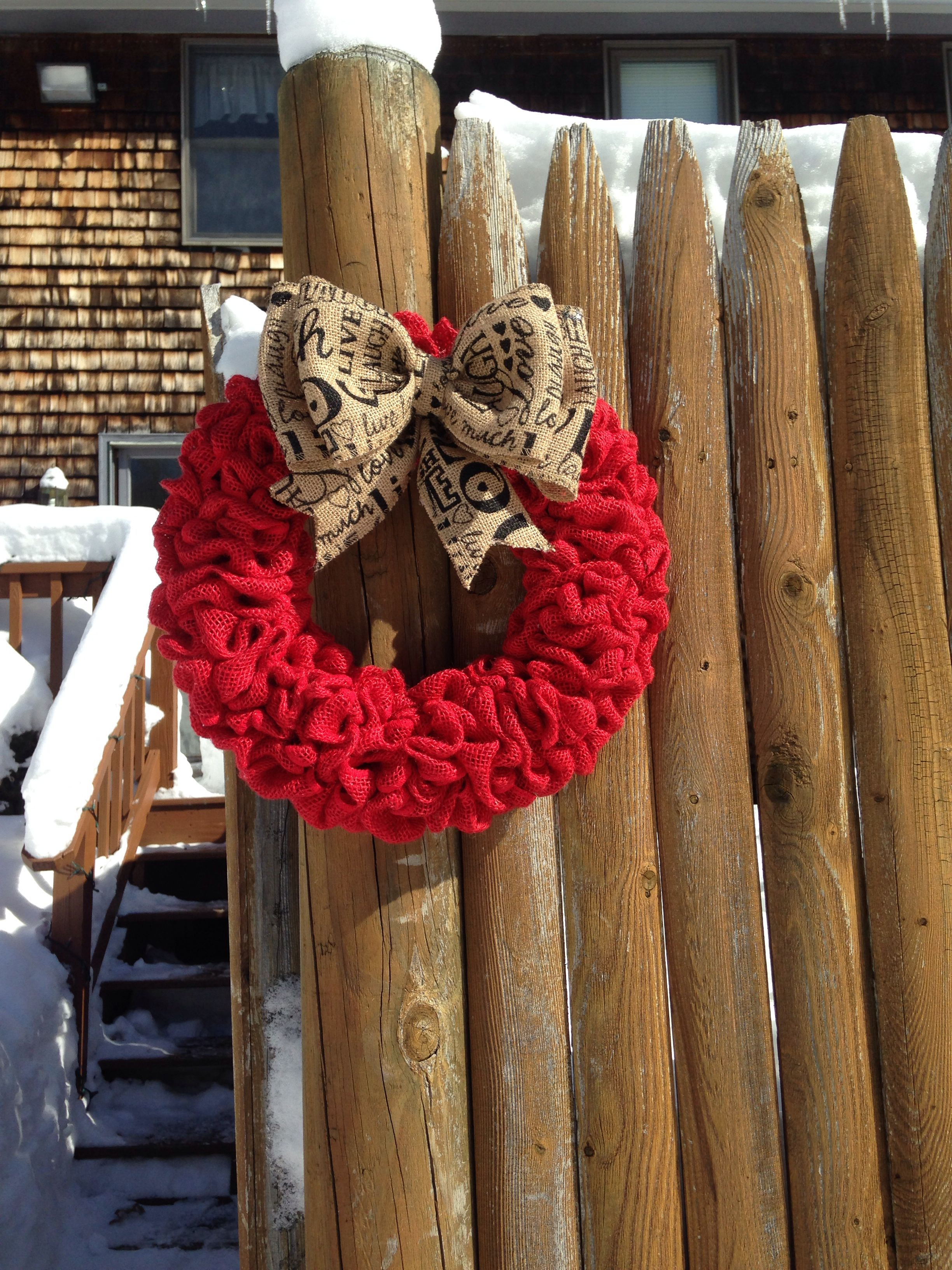 Live, Laugh, and Love burlap wreath