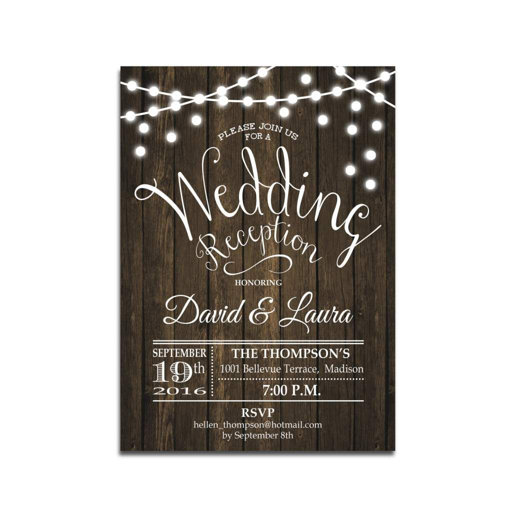 Reception Only Wedding Invitations