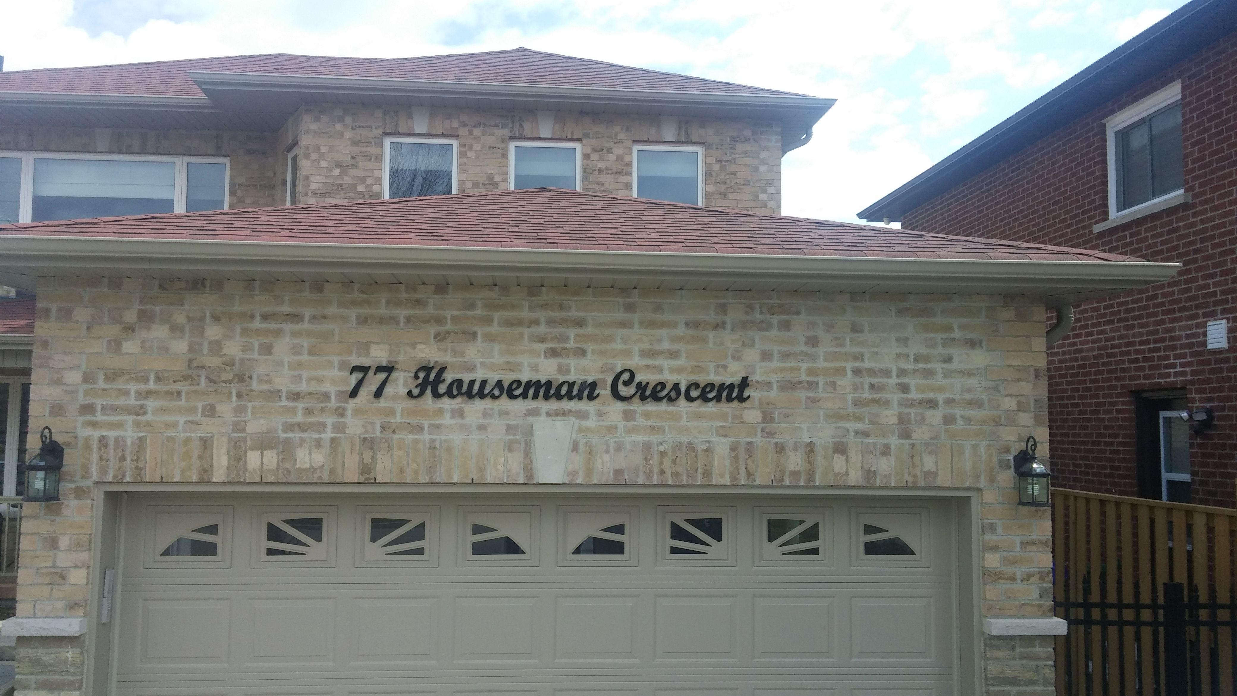 77 Houseman Crescent House Address Cutout Black Acrylic Characters Script House Letters Price 180 Set House Letters House Address House Numbers