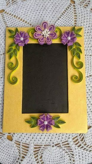 Quilling cards paper ideas flower frame no art also best quilled photo frames images papercraft rh uk pinterest