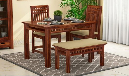 Incredible Buy Adolph Compact 4 Seater Dining Set With Bench Online In Machost Co Dining Chair Design Ideas Machostcouk