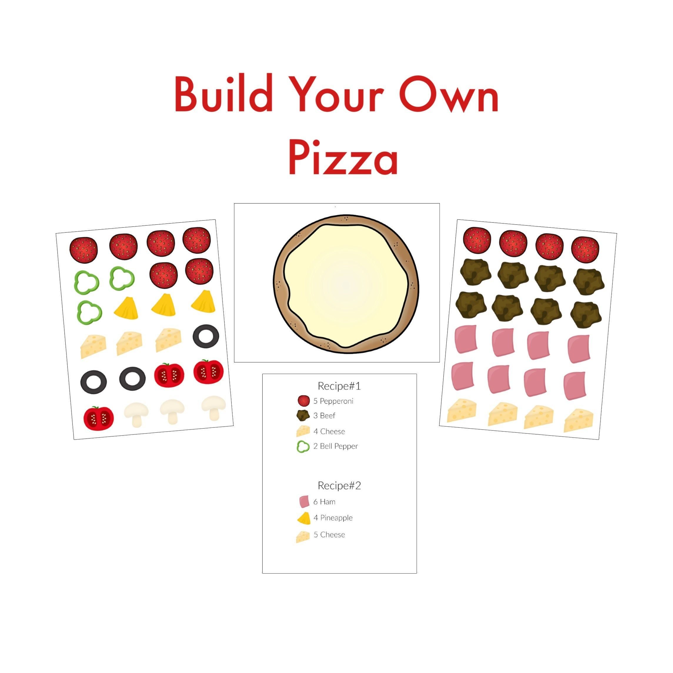 Pizza Pretend Play Dramatic Play Quiet Book Activity Printable Worksheet File Folder Game Preschool Le Teaching Homeschool Preschool Learning Folder Games [ 2289 x 2289 Pixel ]