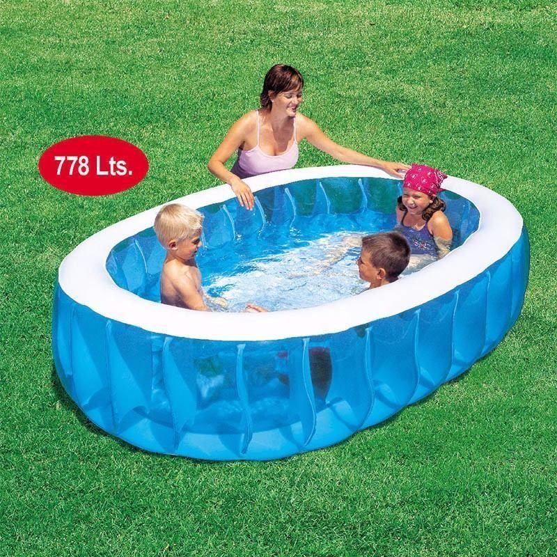 piscina bestway inflable rectangular 2 anillos 778 litros