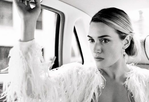 """"""" I wouldn't dream of working on something that didn't make my gut rumble or my heart want to explode."""" Kate Winslet photographed by Mario Testino"""