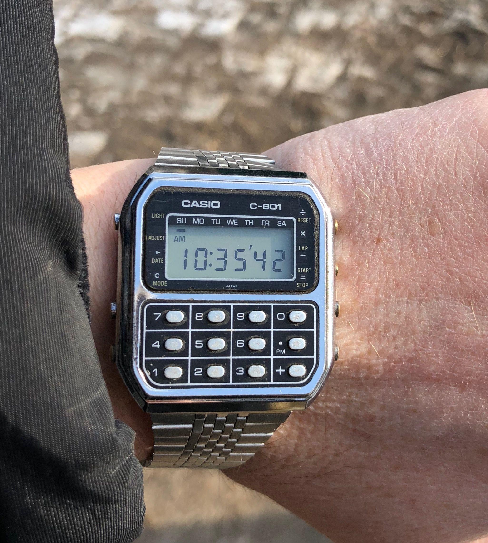 efff7fd62 Casio C-801 from 1980 | Vintage Watches in 2019 | Casio vintage ...