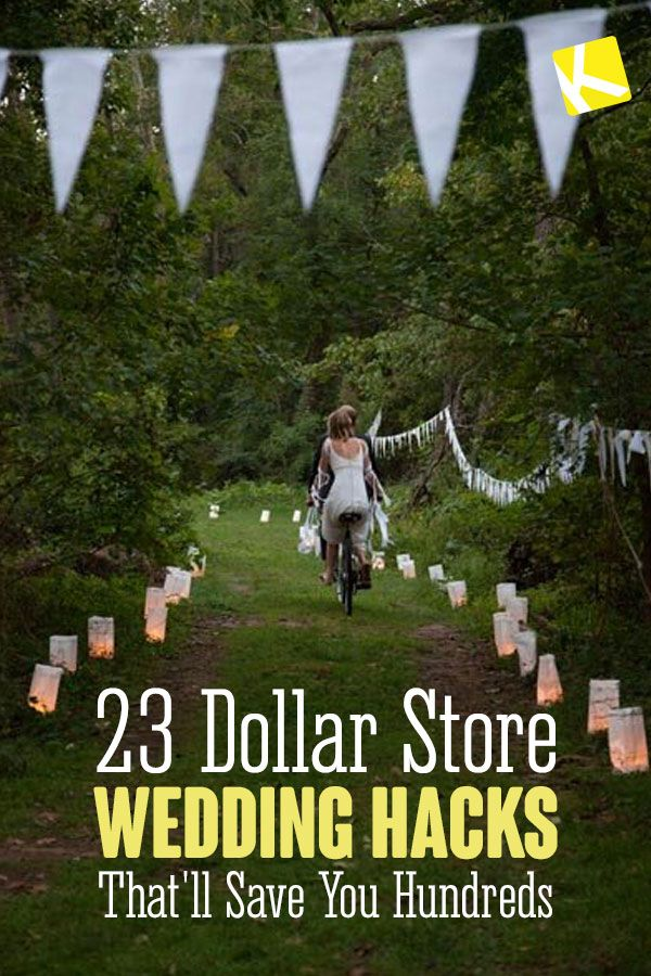 22 Dollar Store Wedding Hacks That'll Save You Hundreds