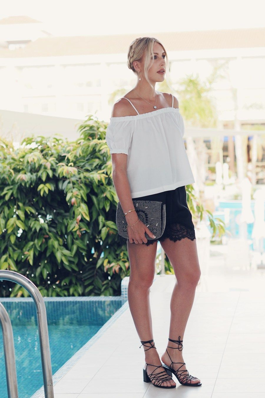 da5edd5e2f uk style blogger Charlotte Buttrick wearing a monochrome holiday outfit and  mango sandals