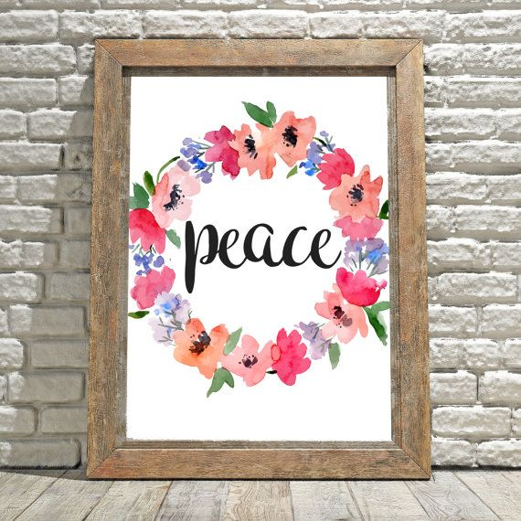 Peace Wall Art Peace Sign Decor Wall Decor Wall Hanging | Home ...