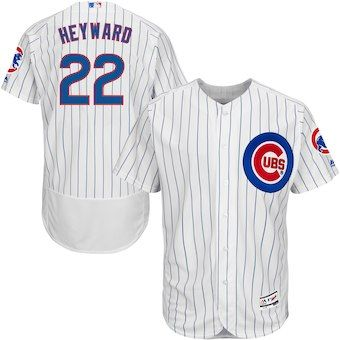 Jason Heyward Chicago Cubs Majestic Home Flex Base Authentic Collection  Player Jersey - White Royal 1da47775f