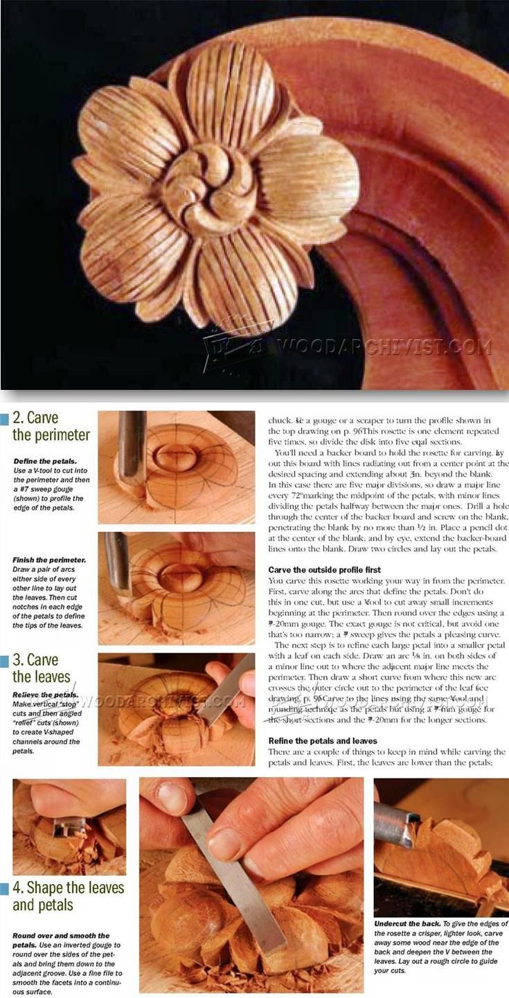 Wood rosette carving wood carving patterns and techniques