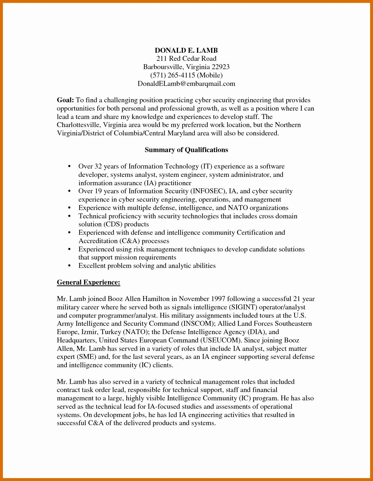 Cyber security resume examples beautiful 50 best cyber