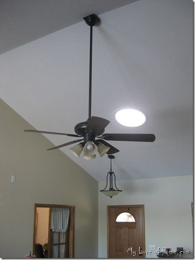 Spray Painted Ceiling Fan With Darker Blades Ceiling Fan Painting Ceiling Fans Ceiling