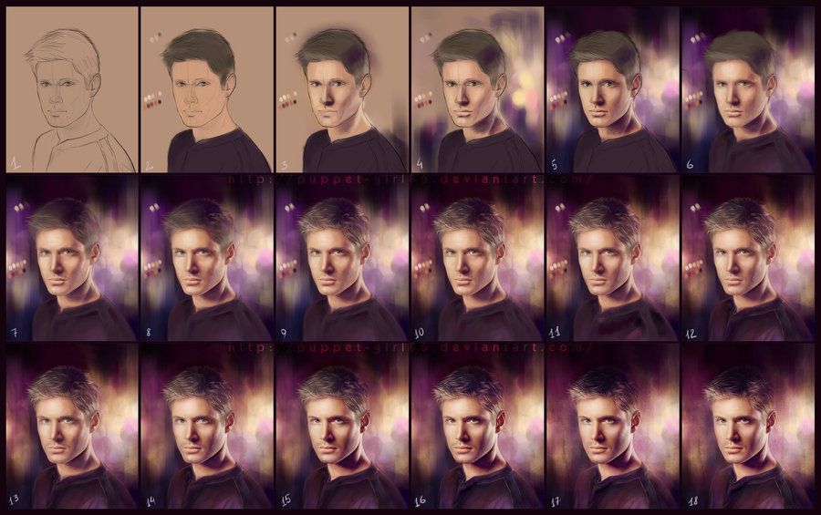 Step by step - Jensen by Puppet-Girl86 on DeviantArt