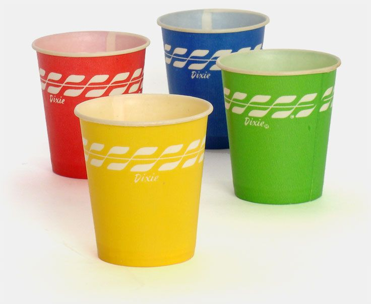vintage classic 1960s version of the dixie cup devised in 1912