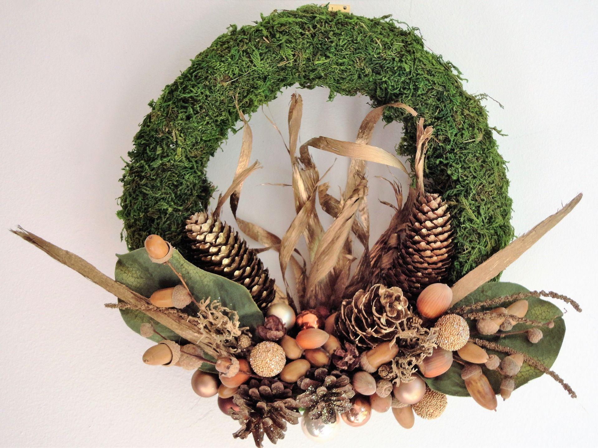 Couronne De Porte Noel Design couronne de noël naturelle design (porte). : accessoires de