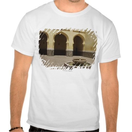 Courtyard of the Tomb of Moulay Ismail, Meknes, T Shirt, Hoodie Sweatshirt