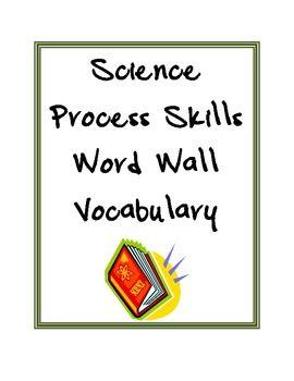 Science Process Skills Vocabulary Science Process Skills Life Science Word Wall Science Word Wall