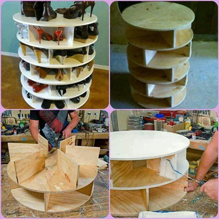 Mueble giratorio para zapatos reciclado pinterest for Mueble para zapatos
