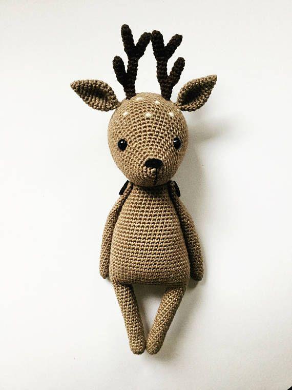 Flora the Fawn Amigurumi crochet deer PATTERN ONLY PDF (English, Deutsch, Español, Français) #eyeshaveit