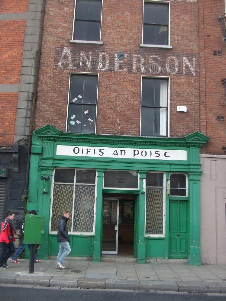 Old PostOffice Shopfront in City of Dublin, Ireland