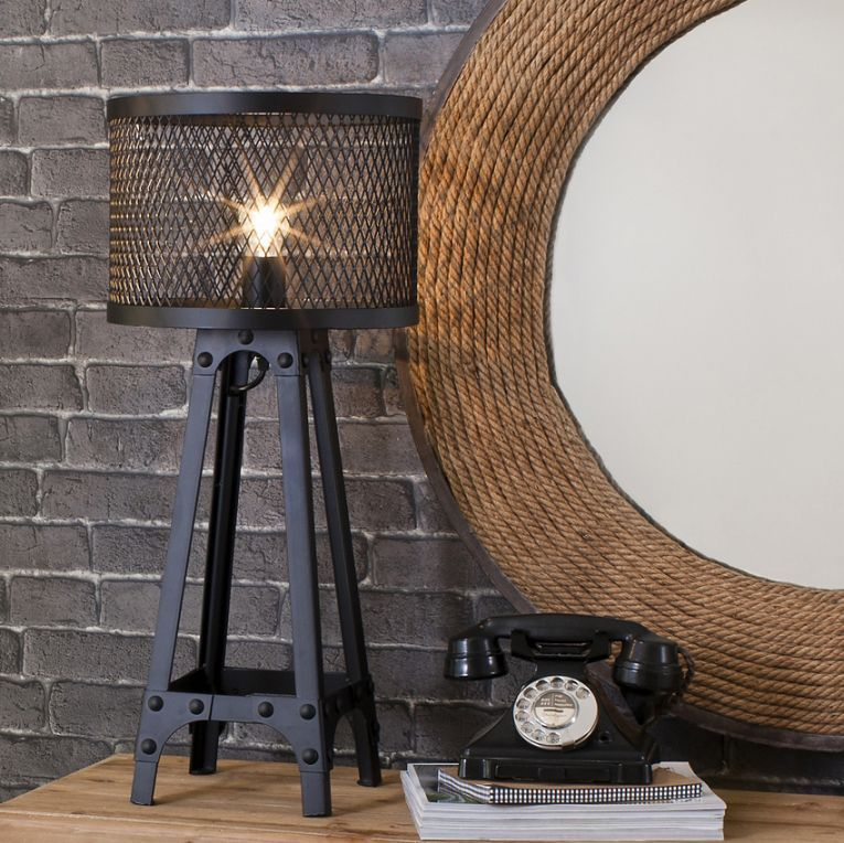 Industrial mesh architectural table lamp let there be light industrial mesh architectural table lamp mozeypictures Gallery