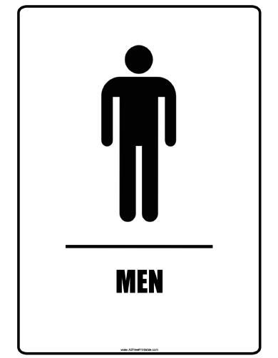 Free Printable Men Bathroom Signs Man Bathroom Bathroom Signs