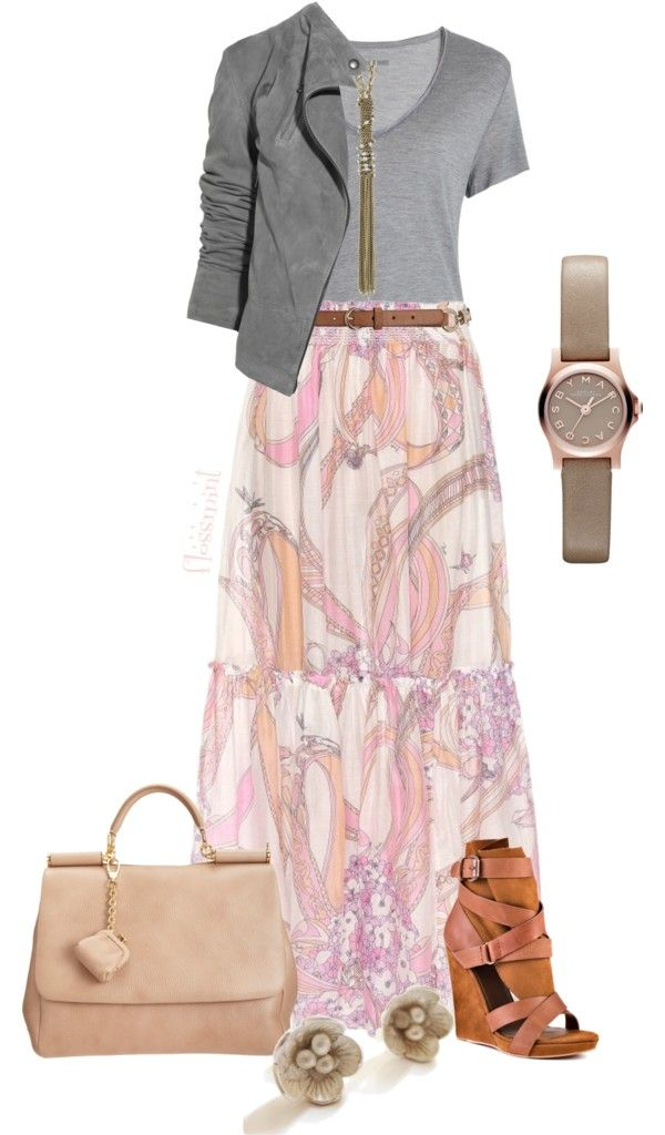"""As Long as You're With Me (Long Skirt Contest)"" by flossmint ❤ liked on Polyvore"