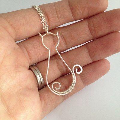 collar del gato del alambre - kian diseños de joyería hecha a mano (8)