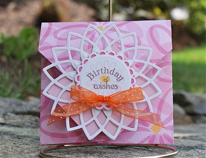 DTGD Funky Fold Birthday Wishes by Arizona Maine - Cards and Paper Crafts at Splitcoaststampers
