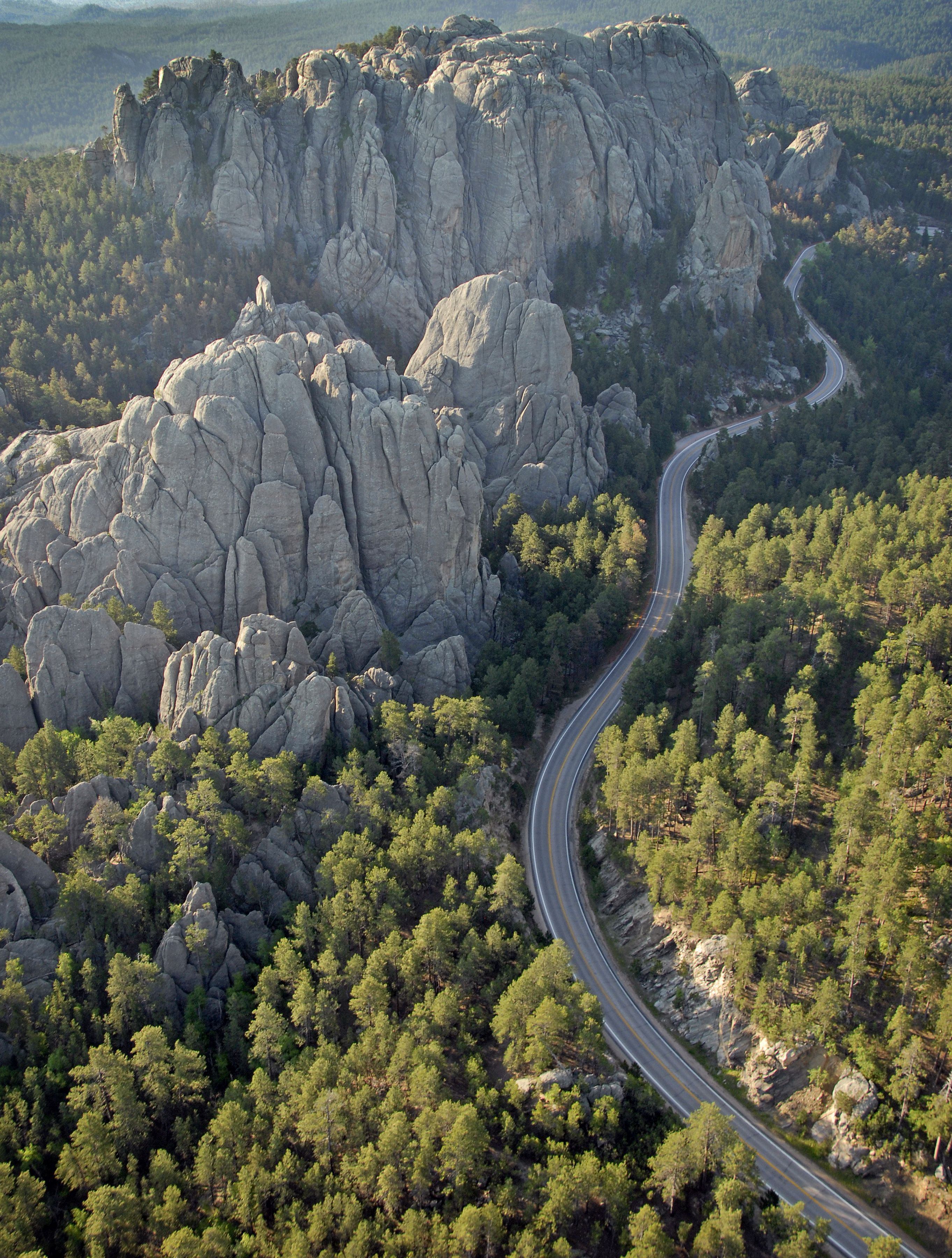 A favorite cruise route Needles Highway
