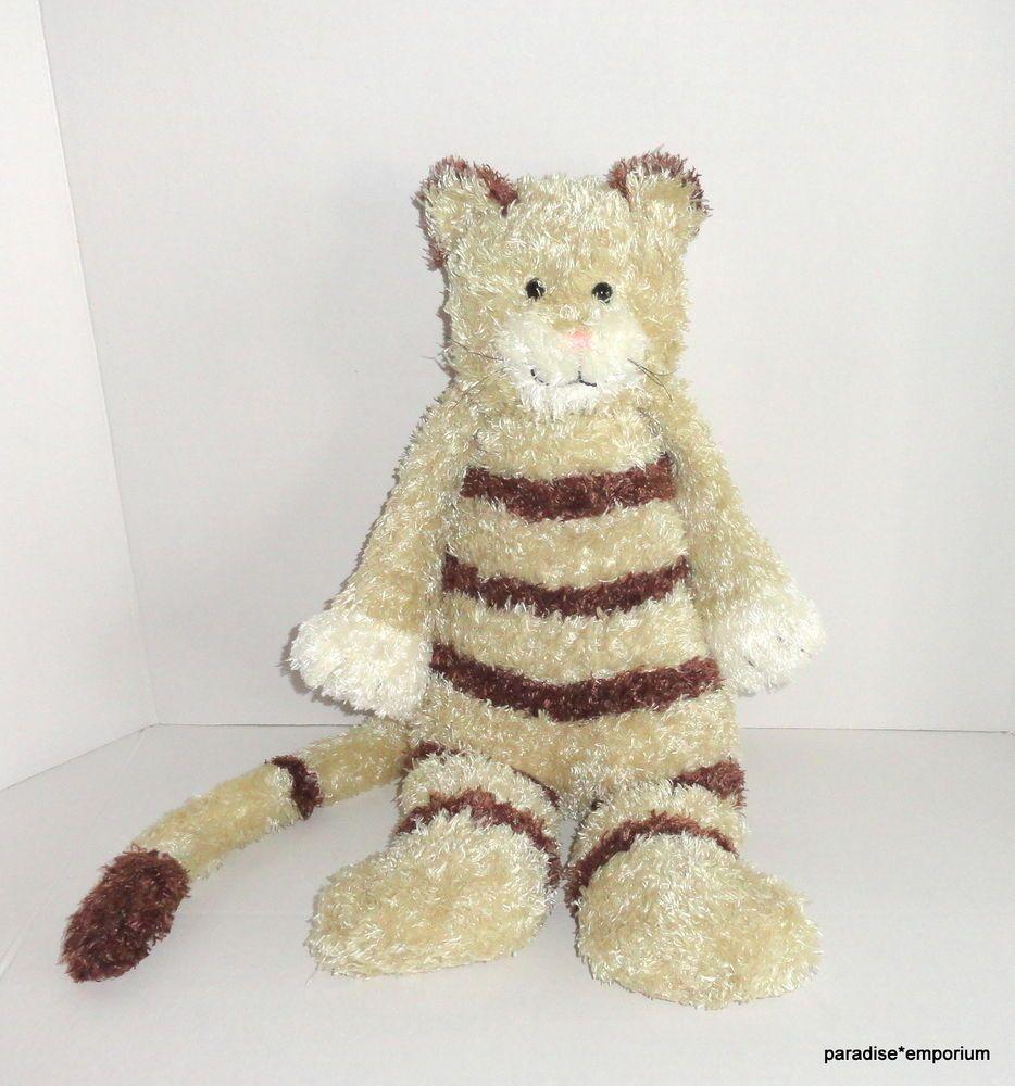 Jellycat Bunglie Cat Plush Tan Brown Tabby Stripes Floppy Style 18 P70 Cat Plush Plush Stuffed Animals Tabby
