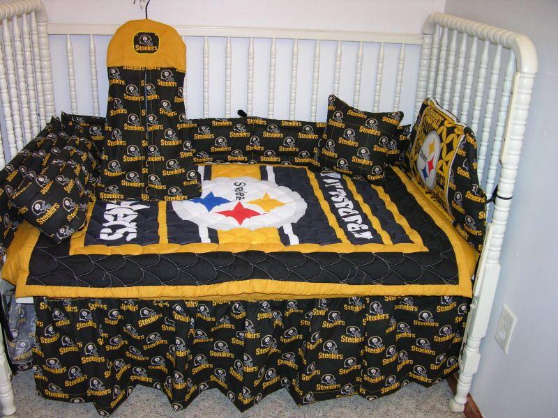 Pittsburgh Steelers Crib Bedding Crib Bedding Nursery Set Made W