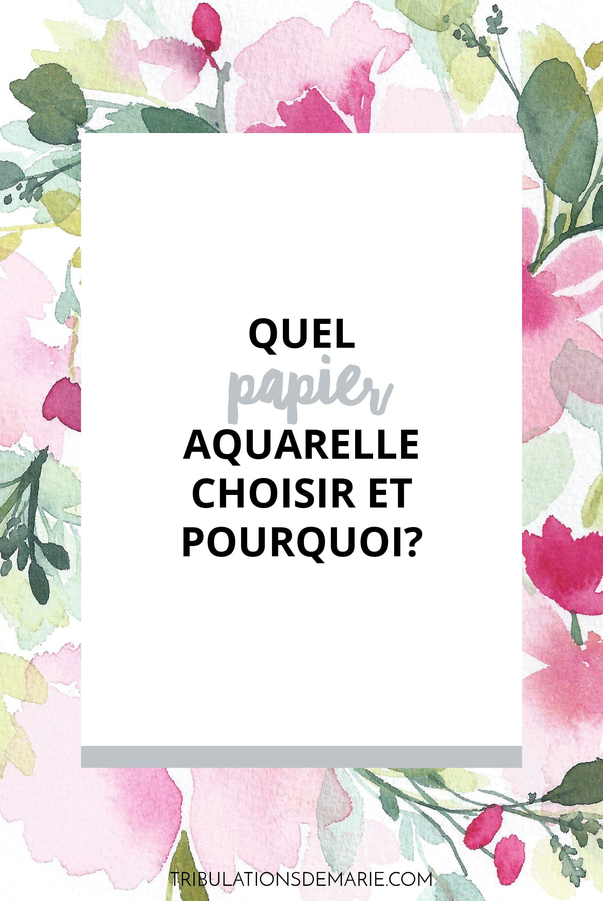 Comment Choisir Son Papier Aquarelle Pratique Artistique