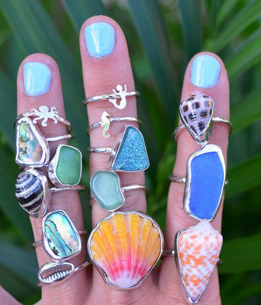 Layers of Beach jewelry for the salty and free spirited. Salty Soul Jewelry. Tropical
