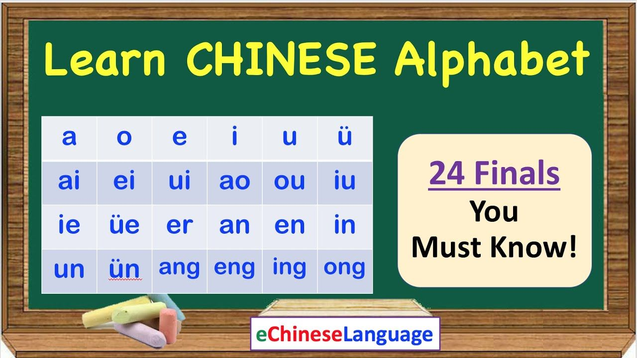 Learn Chinese Alphabet 24 Finals You Must Know Mandarin Chinese Alph Learn Chinese Alphabet Learn Chinese Chinese Alphabet