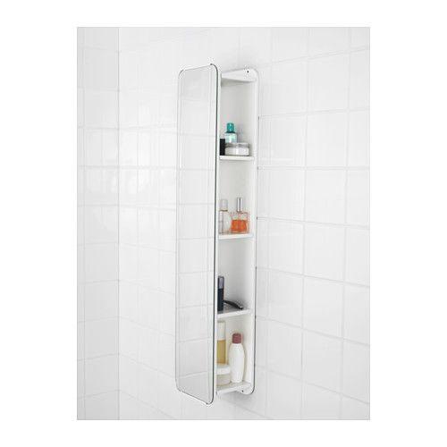 BRICKAN Spiegel mit Aufbewahrung, weiß | Spiegel, Ikea und Badmoebel