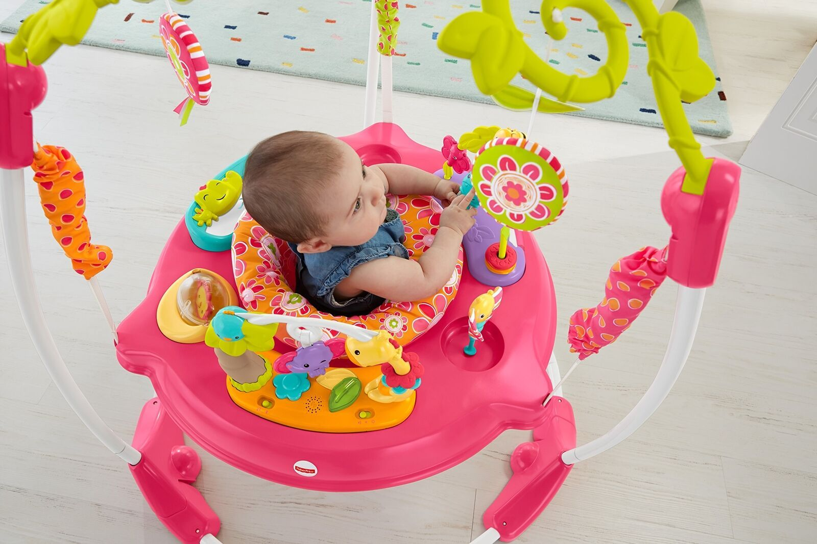 Fisher Price Jumperoo Baby Girl Jumper Bouncer Activity Seat Toys Sound Pink Col Best Baby Toys Jumperoo Baby Activity Center