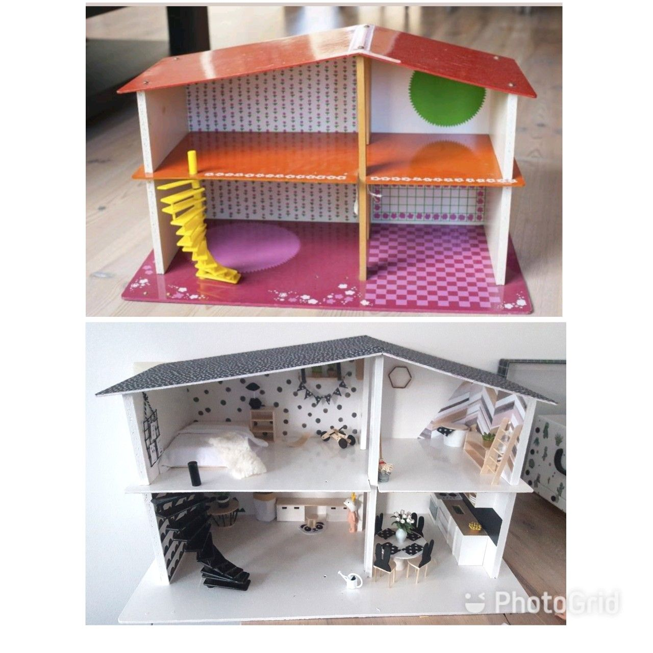 Dollhouse diy before after make over modern dollhouse