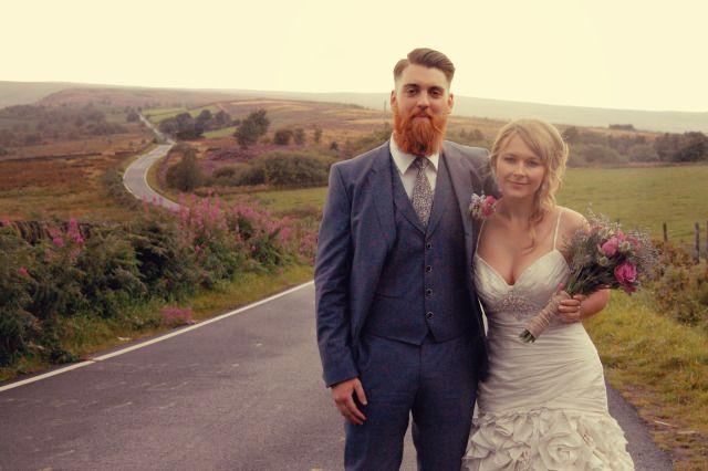 My wedding day, hugo boss suit, DIY flowers