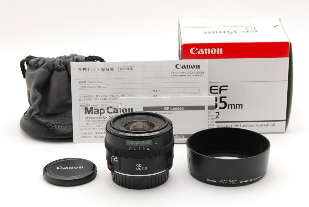 Top Mint Canon Ef 35mm F 2 Ef Lens W Box Manual Hood And More From Japan Canon Canon Ef Lens Canon